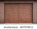 new gate of a material similar... | Shutterstock . vector #407978911