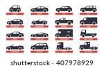 car type and model objects... | Shutterstock .eps vector #407978929