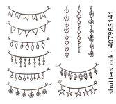 set of hand drawn vector... | Shutterstock .eps vector #407983141