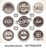 retro vintage badge and labels... | Shutterstock .eps vector #407986099