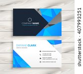 blue abstract business card... | Shutterstock .eps vector #407993251