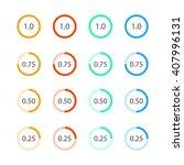round graph circular charts ... | Shutterstock .eps vector #407996131
