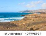 sand dunes and volcanic... | Shutterstock . vector #407996914