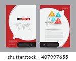 cover annual report leaflet... | Shutterstock .eps vector #407997655