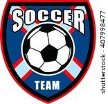 soccer football sign and logo... | Shutterstock .eps vector #407998477