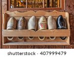 Typical Wooden Dutch Clogs On...
