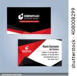 modern business card template ... | Shutterstock .eps vector #408008299
