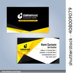 modern business card template ... | Shutterstock .eps vector #408009079