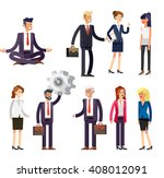 vector detailed characters... | Shutterstock .eps vector #408012091