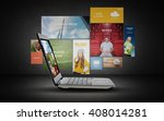 technology  media  multimedia... | Shutterstock . vector #408014281