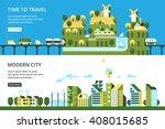 two horizontal banner  ... | Shutterstock .eps vector #408015685