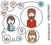 social media design  | Shutterstock .eps vector #408019945
