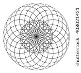 a circular pattern of repeating ... | Shutterstock .eps vector #408021421