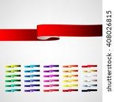 vector ribbons set | Shutterstock .eps vector #408026815