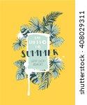vector illustration tropical... | Shutterstock .eps vector #408029311