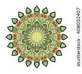 round mandala. arabic  indian ... | Shutterstock . vector #408032407