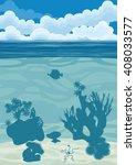 underwater landscape background ...   Shutterstock . vector #408033577