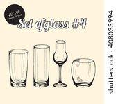 vector set of glasses for bars  ... | Shutterstock .eps vector #408033994