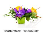 colorful floral bouquet of... | Shutterstock . vector #408039889