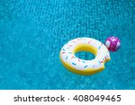 Pool Float Ring Floating On...