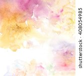 Stock photo pastel watercolor background 408054985