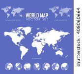 world map vector illustration... | Shutterstock .eps vector #408060664