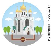 central cathedral of... | Shutterstock .eps vector #408061759