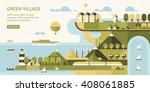the best city scenery in flat... | Shutterstock .eps vector #408061885