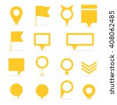 set of yellow isolated pointers ... | Shutterstock .eps vector #408062485