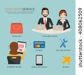 customer service for shopping... | Shutterstock .eps vector #408062509