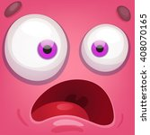 cartoon monster face   Shutterstock .eps vector #408070165