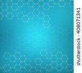 hexagonal molecule. molecular... | Shutterstock .eps vector #408071341