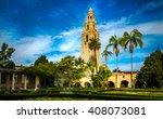 Bell Tower At Balboa Park At...