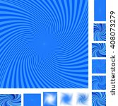 Blue Vector Spiral Design...