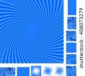Blue Vector Spiral Design...