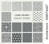 set of hand drawn marker and... | Shutterstock .eps vector #408076687