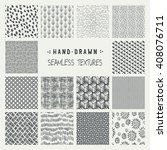 set of hand drawn marker and... | Shutterstock .eps vector #408076711