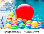 big red ball and colorful balls | Shutterstock . vector #408083995