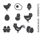 egg vector icons. egg food ... | Shutterstock .eps vector #408084271