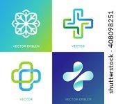 vector set of abstract logos... | Shutterstock .eps vector #408098251