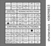 icon set of laundry symbols ... | Shutterstock .eps vector #408098815