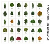 Thirty Different Vector Tree...