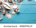 marine summer postcard.... | Shutterstock . vector #408099619