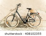 black retro vintage bicycle.... | Shutterstock . vector #408102355