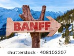 Banff Wooden Sign With Winter...