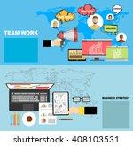 flat design illustration... | Shutterstock .eps vector #408103531