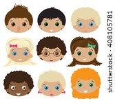 set of avatars. vector... | Shutterstock .eps vector #408105781