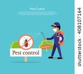 pest control banner design flat....   Shutterstock .eps vector #408107164