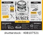 restaurant brochure vector ... | Shutterstock .eps vector #408107521