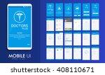 material design ui  ux  gui... | Shutterstock .eps vector #408110671